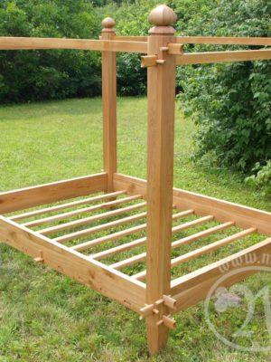 średniowieczne łóżko