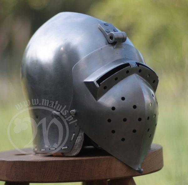 hełm rycerski Klappenvisier