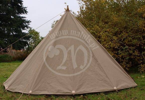 lniany namiot stożek