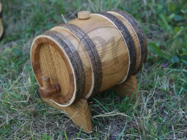 Medieval oak barrel