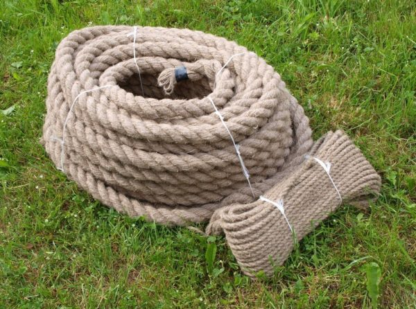Handmade hemp rope - 40mm