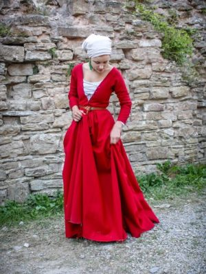 Woman`s Gown - Late 15th C - German Style