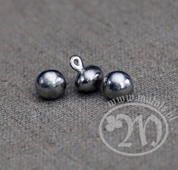 Tin alloy sphere button.