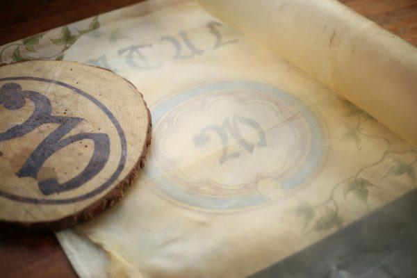 Leather parchment
