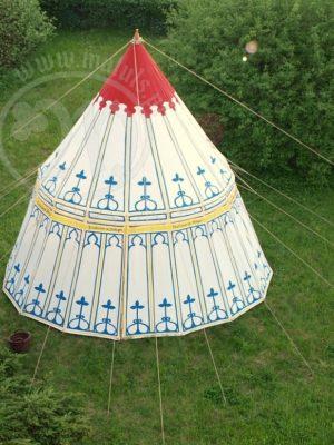 malowany namiot parasol